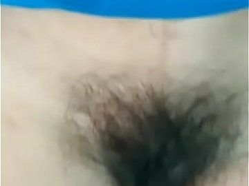 Desi wife showing her hairy wet pussy